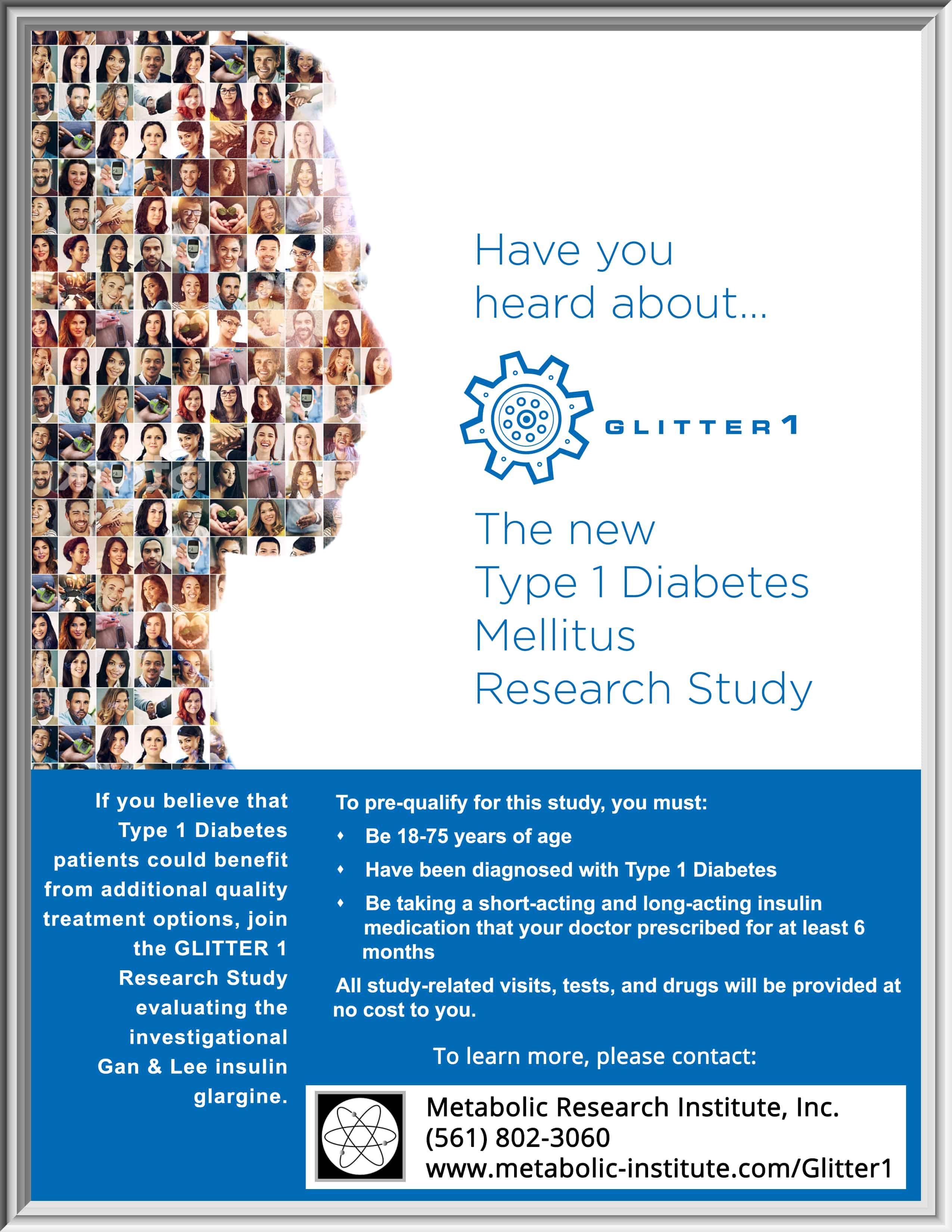 Glitter 1: Type 1 Diabetes Mellitus Research Study