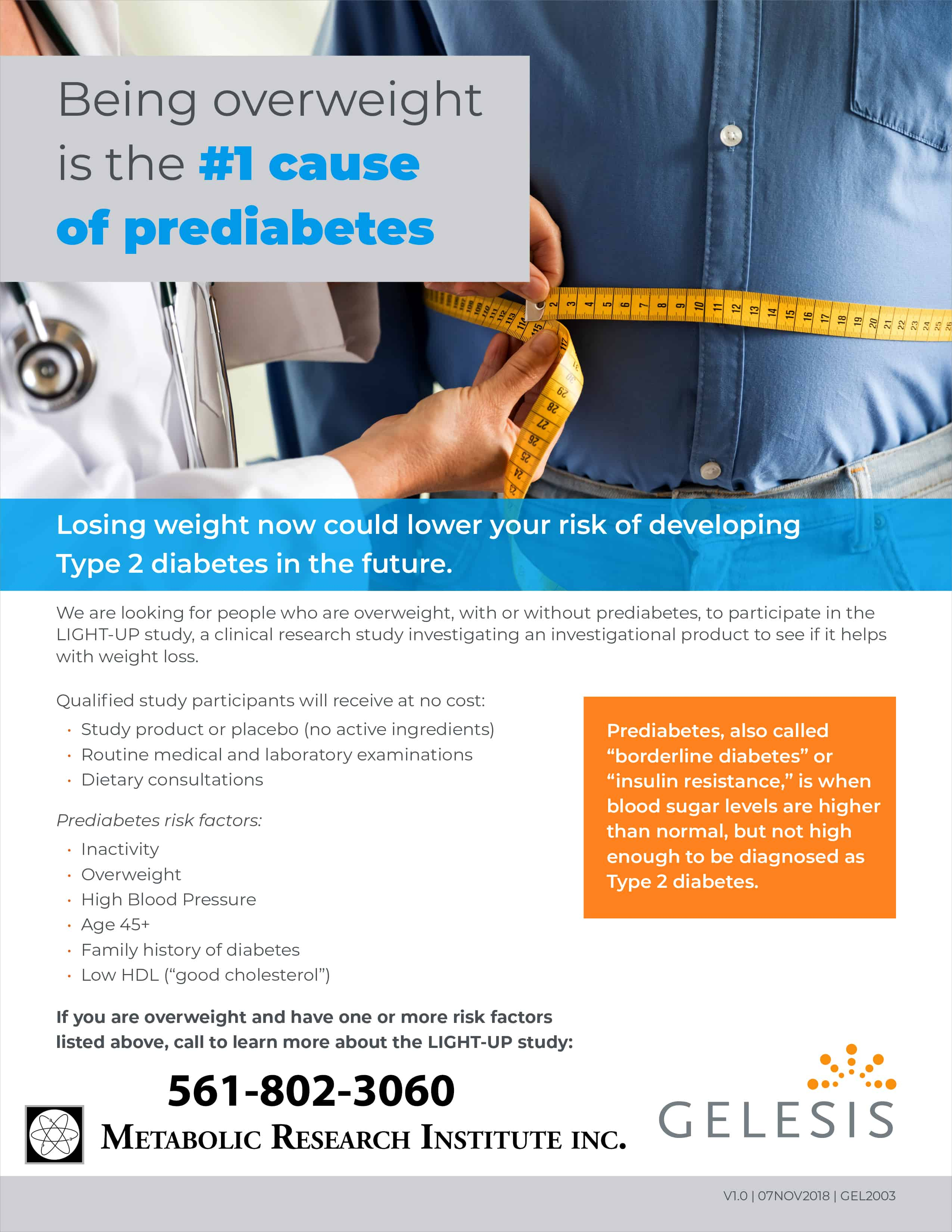 Metabolic Research Institute in West Palm Beach Florida is conducting a clinical research diabetes weight loss study for people with Type 2 Diabetes or Prediabetes.