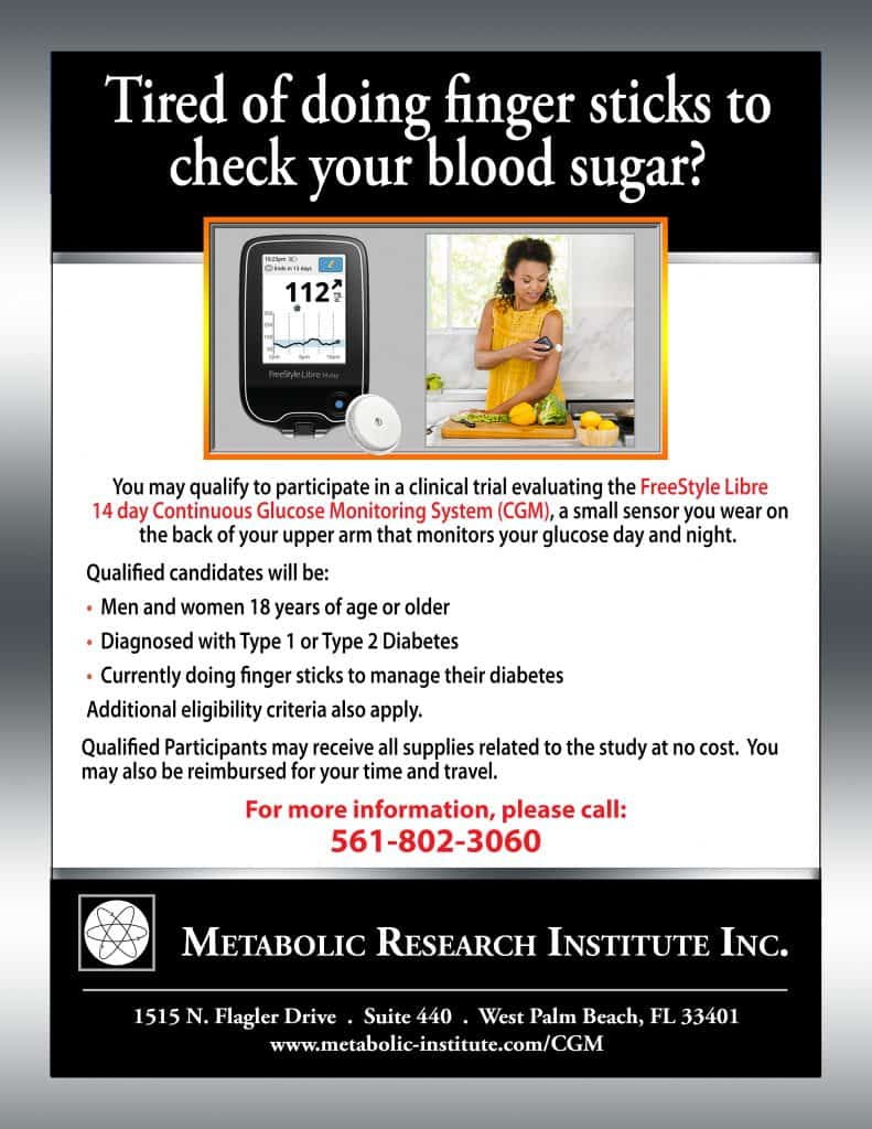 FreeStyle Libre 14 day CGM System Flyer for Diabetes