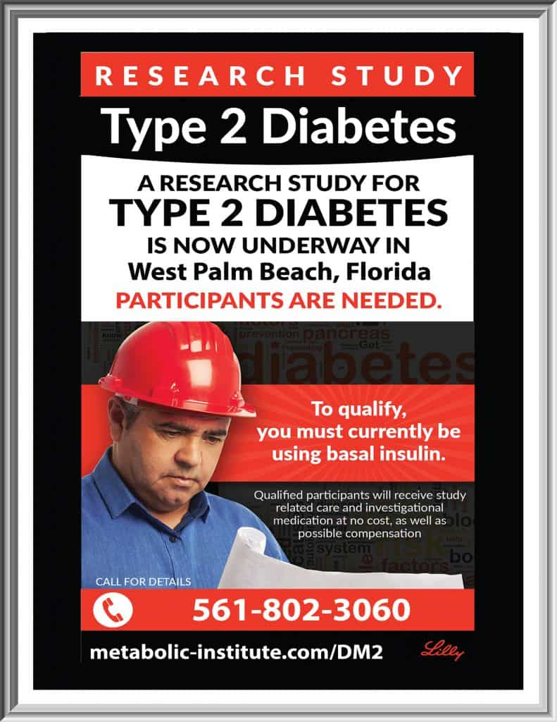 Type 2 Diabetes Clinical Study Flyer