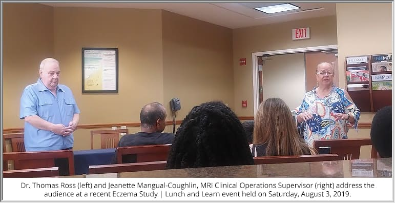 MRI holds eczema (atopic dermatitis) lunch and learn event.