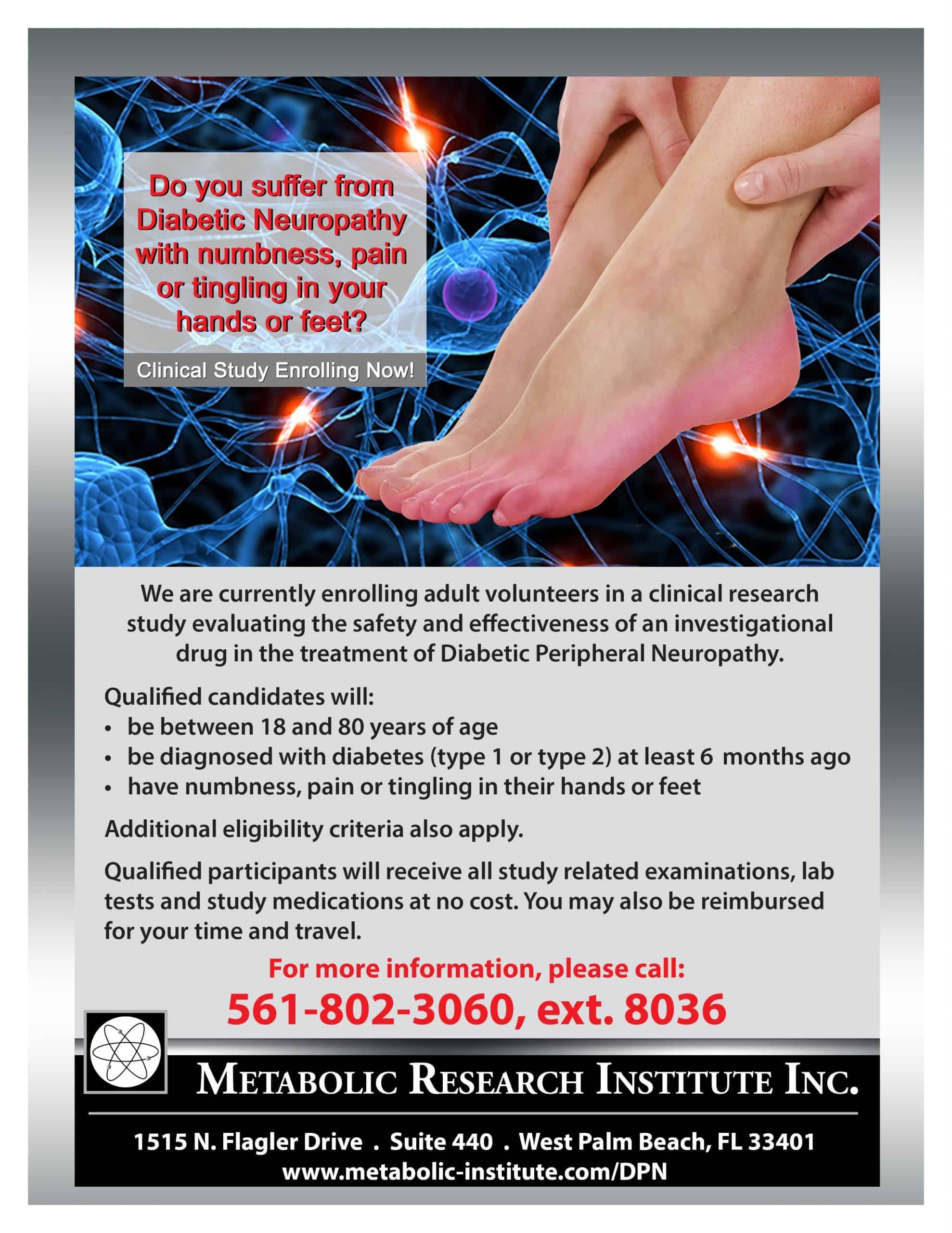 Diabetic Peripheral Neuropathy (DPN) Study Flyer