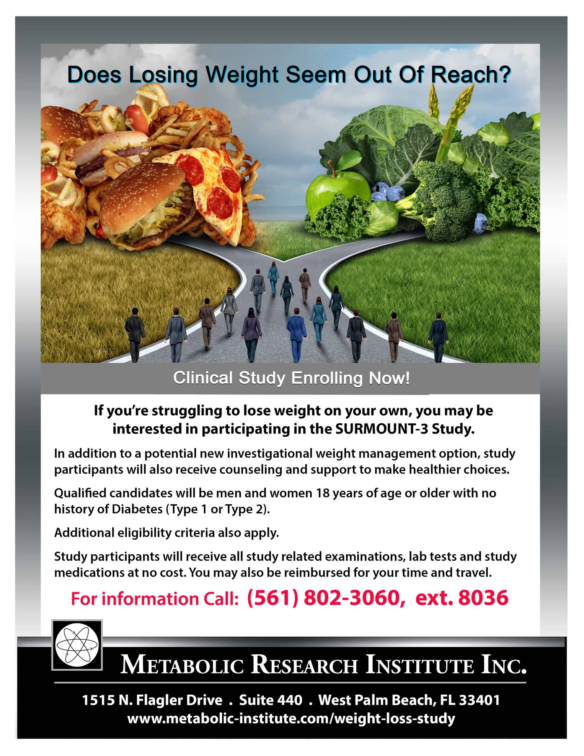 Weight Loss Study Flyer