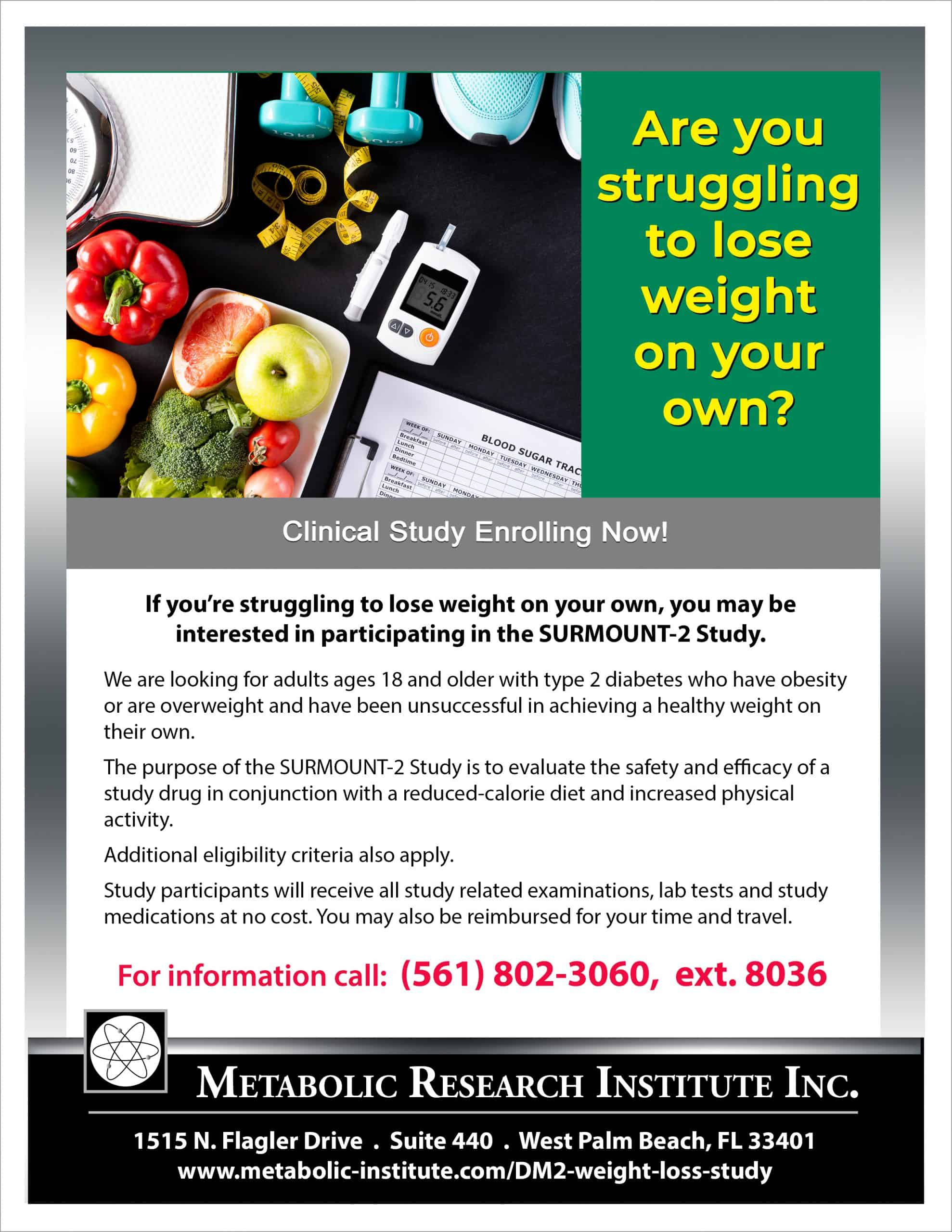 Type 2 Diabetes Weight Loss Study Flyer