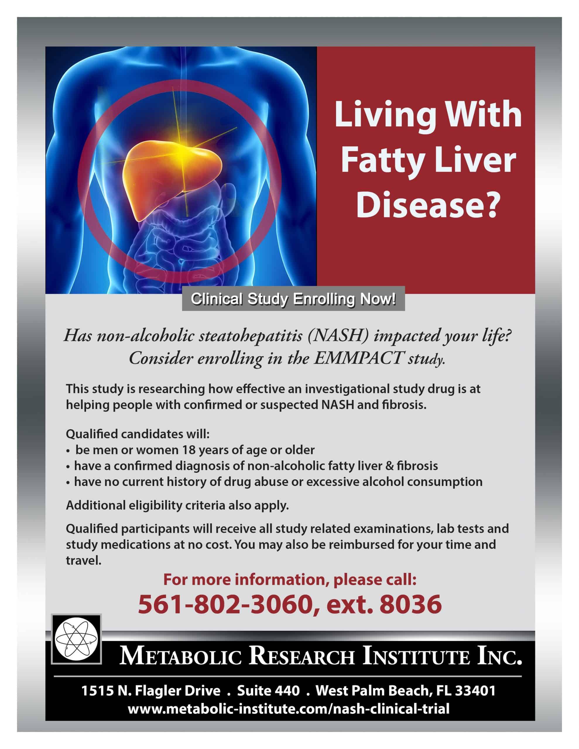 Fatty Liver Disease (NASH) Study Flyer