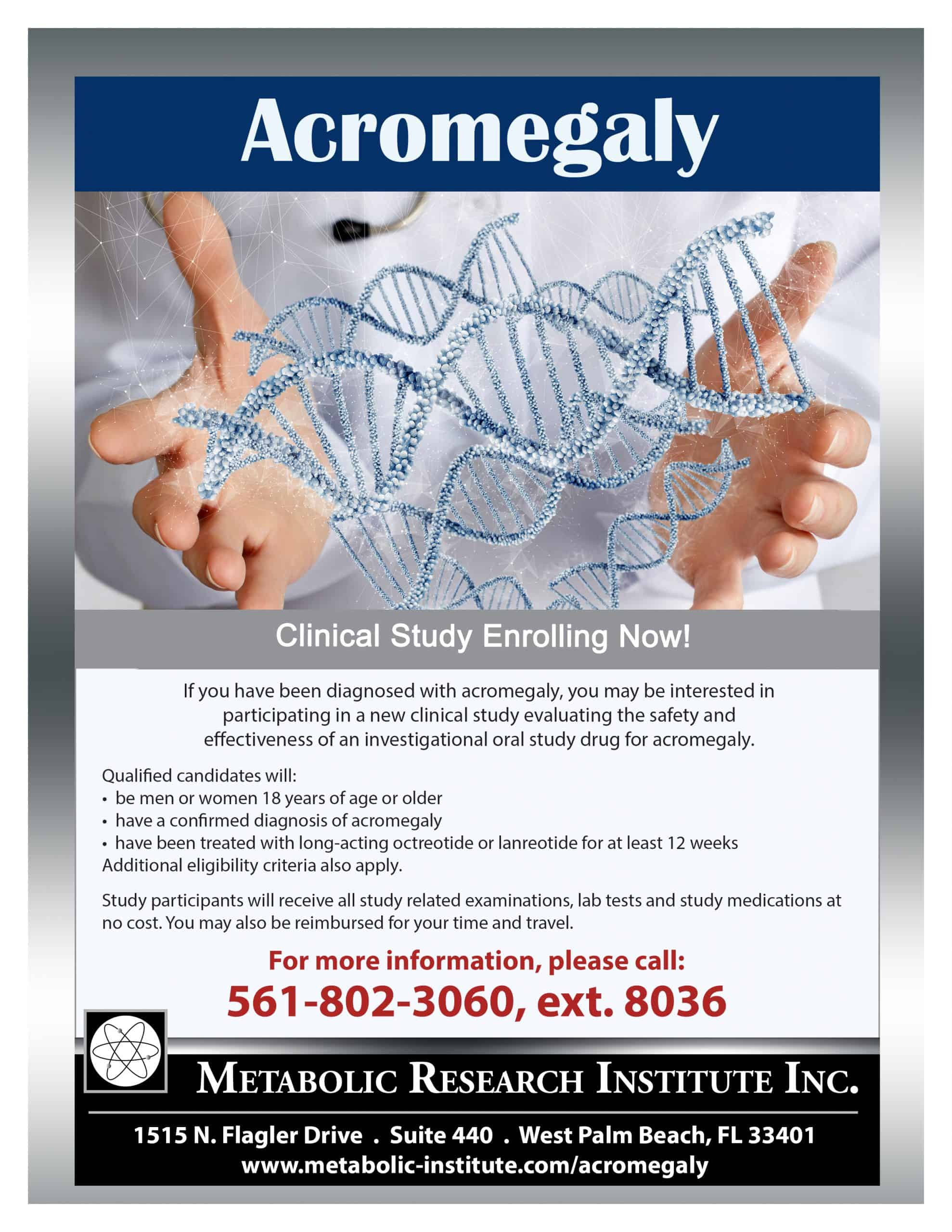 Acromegaly Clinical Study Flyer